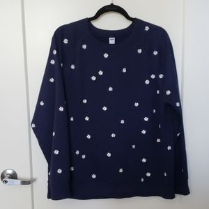 Old Navy Daisy Sweatshirt XL